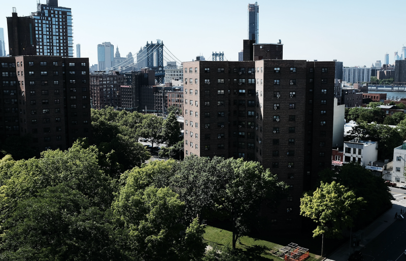 Public housing stands in Brooklyn on June 11, 2018 in New York City. (Photo: Spencer Platt/Getty Images)