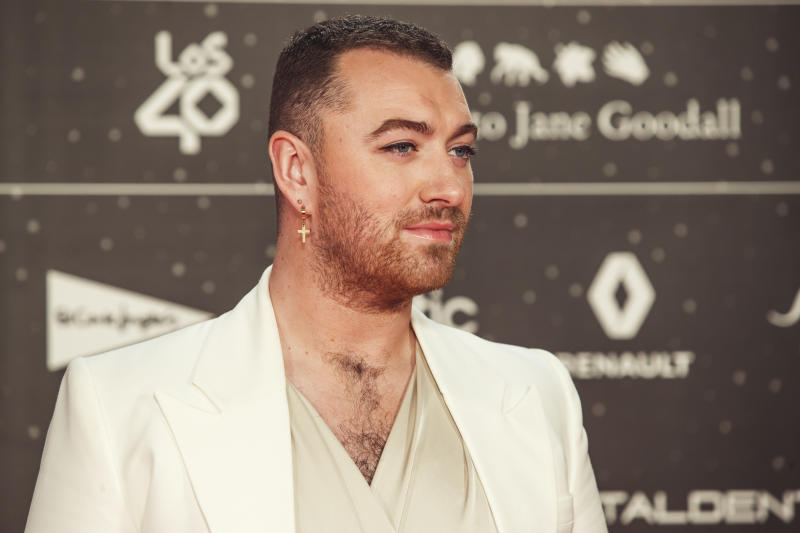 MADRID, SPAIN - NOVEMBER 08: Sam Smith attends 'Los40 music awards 2019' photocall at Wizink Center on November 08, 2019 in Madrid, Spain. (Photo by Javier Bragado/Getty Images)