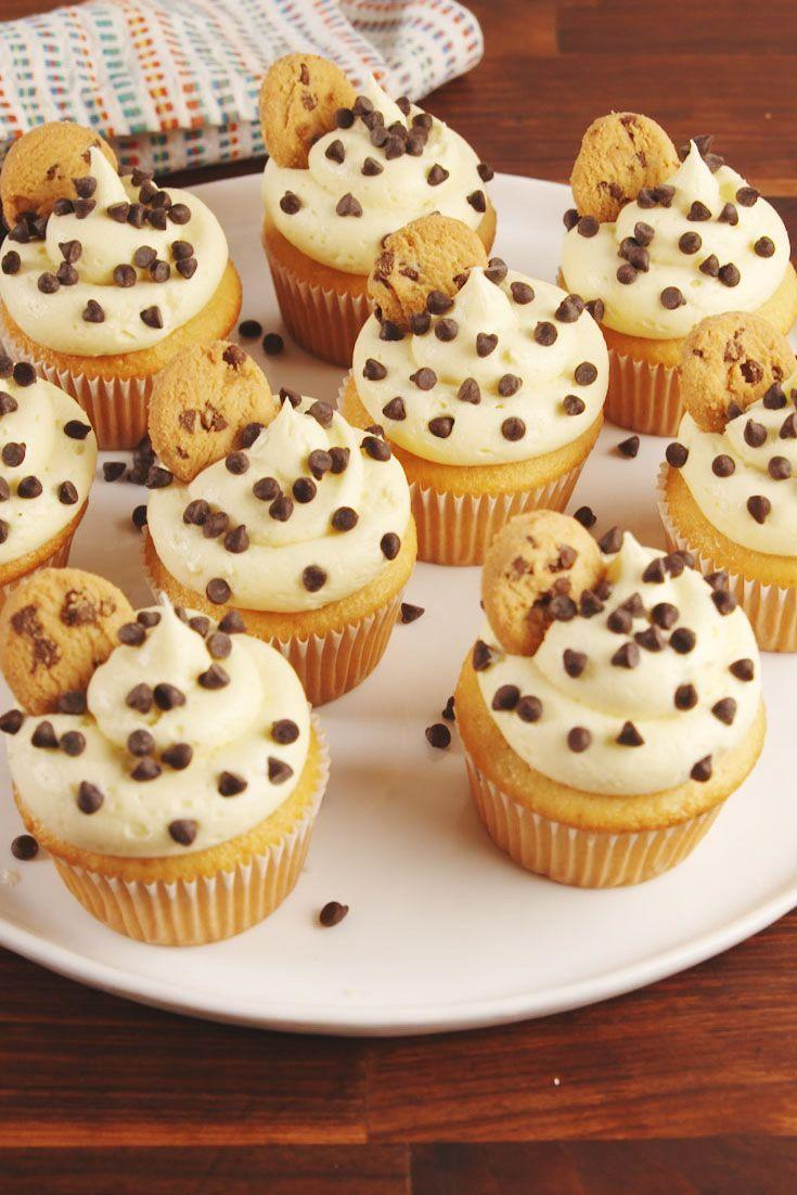 """<p>Why yes, there is cookie dough in the center of these beauties.</p><p>Get the recipe from <a href=""""https://www.delish.com/cooking/recipe-ideas/recipes/a55160/cookie-dough-stuffed-cupcakes-recipe/"""" rel=""""nofollow noopener"""" target=""""_blank"""" data-ylk=""""slk:Delish"""" class=""""link rapid-noclick-resp"""">Delish</a>. </p>"""