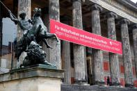 A general view shows the Alte Nationalgalerie museum in Berlin