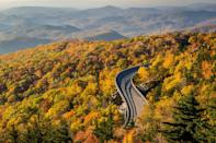 """<p>The drive weaves through Shenandoah National Park, the Blue Ridge Parkway, and the Great Smoky Mountains National Park. You can take the road trip in chunks and plan to go from one section to another in three to four hours, but <a href=""""https://www.blueridgeparkway.org/"""" rel=""""nofollow noopener"""" target=""""_blank"""" data-ylk=""""slk:the entire road trip"""" class=""""link rapid-noclick-resp"""">the entire road trip</a> could take several hours because it is 469 miles long. Along the way you can stop to see mountains, climb a ridge, camp in the woods or visit museums and art installations.</p>"""
