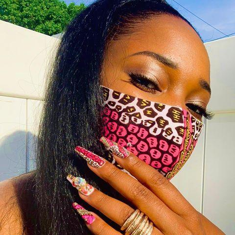 "<p>What's cooler than a super-detailed, glitzed-out <a href=""https://www.cosmopolitan.com/style-beauty/beauty/a30172434/manicure-types-guide/"" rel=""nofollow noopener"" target=""_blank"" data-ylk=""slk:manicure"" class=""link rapid-noclick-resp"">manicure</a>? A face mask to match. I love the idea of using identical design elements in your manicure to really bring the look out. And, like, how pretty are the shades of pink in this combo from nail artist <a href=""https://www.instagram.com/marsha_marsha_nails/"" rel=""nofollow noopener"" target=""_blank"" data-ylk=""slk:Marsha Toussaint"" class=""link rapid-noclick-resp"">Marsha Toussaint</a>?</p><p><strong>✨Try it with:</strong> <a href=""https://oyatomanufacturing.com/covid-19-response"" rel=""nofollow noopener"" target=""_blank"" data-ylk=""slk:Oyato Jagua Face Mask"" class=""link rapid-noclick-resp"">Oyato Jagua Face Mask</a> and <a href=""https://www.marshamarshanails.com/"" rel=""nofollow noopener"" target=""_blank"" data-ylk=""slk:Marsha Marsha Nails Press-Ons"" class=""link rapid-noclick-resp"">Marsha Marsha Nails Press-Ons</a></p><p><a href=""https://www.instagram.com/p/CAqOx4HJME8/"" rel=""nofollow noopener"" target=""_blank"" data-ylk=""slk:See the original post on Instagram"" class=""link rapid-noclick-resp"">See the original post on Instagram</a></p>"
