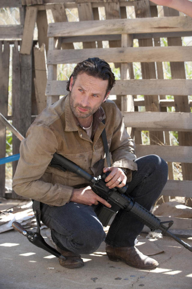 "Rick Grimes (Andrew Lincoln) in ""The Walking Dead"" episode, ""This Sorrowful Life."""