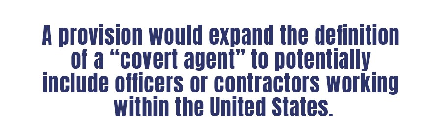 Who is a 'covert agent'? CIA bid to expand the category