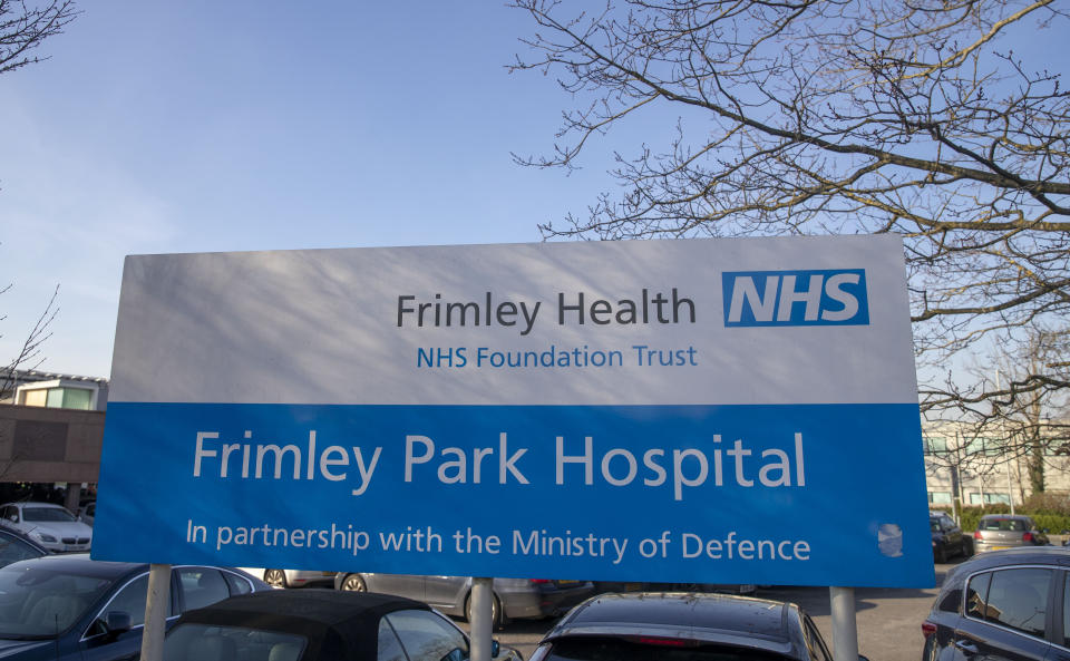 A general view of Frimley Park Hospital in Frimley, Surrey.