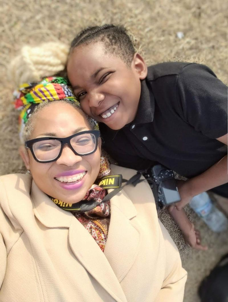 Tiffany Kelly poses with her 10-year-old son who lives with learning disabilities. (Credit: Tiffany Kelly)