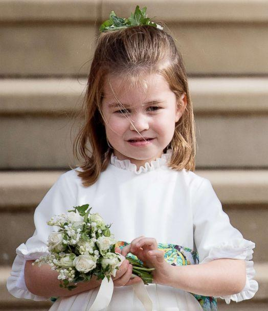 PHOTO: Princess Charlotte of Cambridge attends the wedding of Princess Eugenie of York and Jack Brooksbank at St George's Chapel in Windsor Castle, Oct. 12, 2018, in Windsor, England. (Samir Hussein/WireImage via Getty Images)