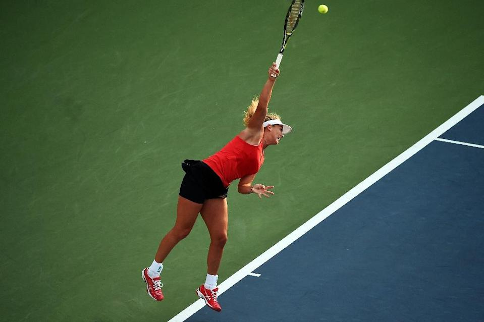 Coco Vandeweghe during her US Open match against Sloane Stephens in New York on August 31, 2015 (AFP Photo/Jewel Samad)