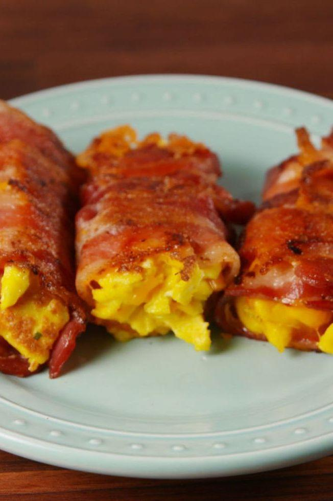 """<p>A new way to do low carb breakfast.</p><p>Get the <a href=""""https://www.delish.com/uk/cooking/recipes/a29531217/bacon-egg-and-cheese-roll-ups-recipe/"""" rel=""""nofollow noopener"""" target=""""_blank"""" data-ylk=""""slk:Bacon, Egg, and Cheese Roll-Ups"""" class=""""link rapid-noclick-resp"""">Bacon, Egg, and Cheese Roll-Ups</a> recipe.</p>"""