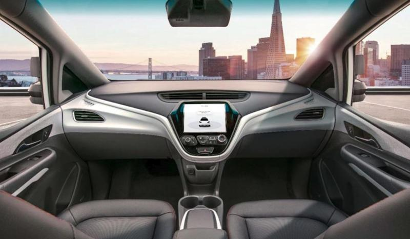 general motors driverless car steering wheel