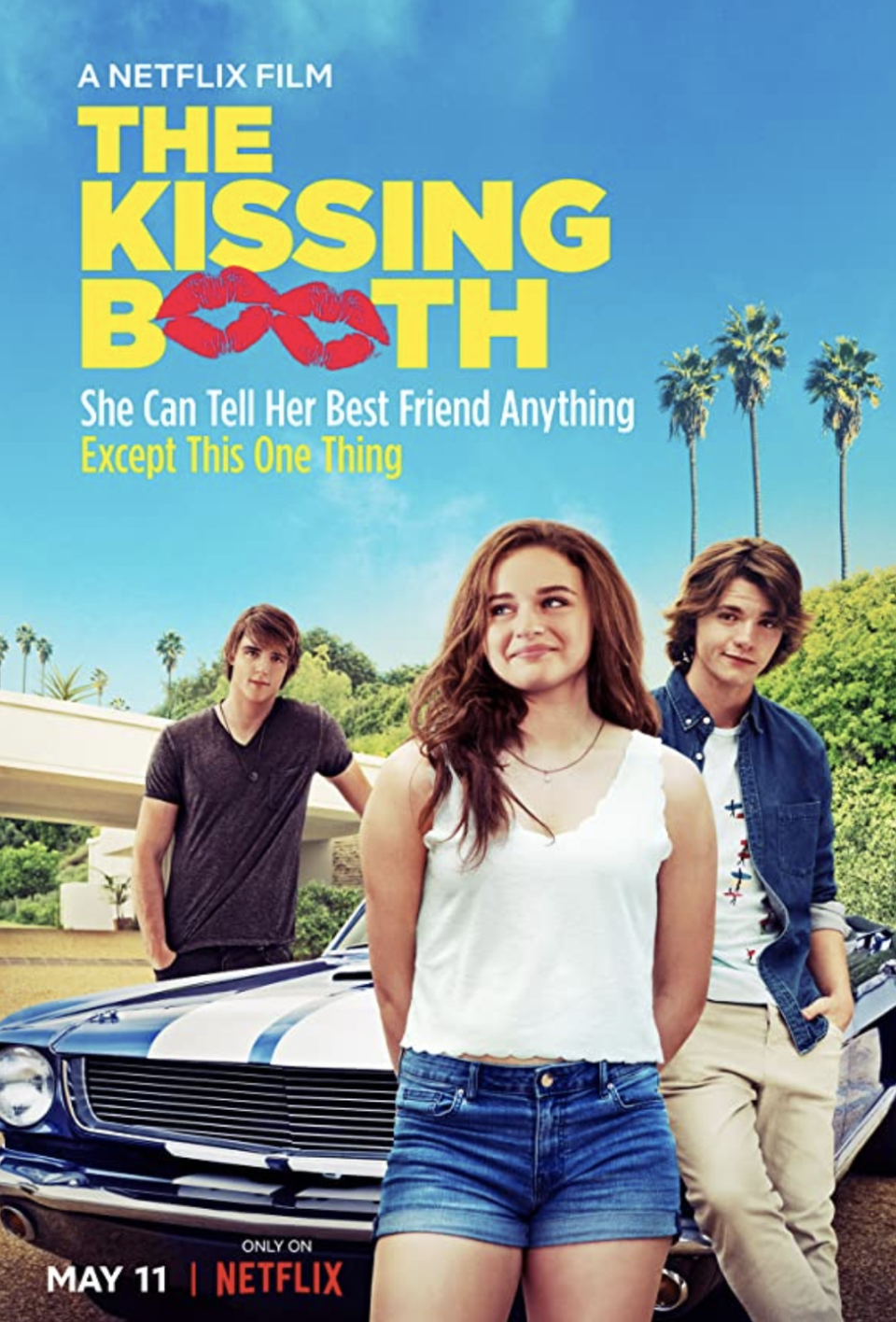"<p>Elle is best friends with Lee and they tell each other <em>everything</em>. The only problem? She hasn't shared her biggest secret: she's in love with his brother.</p><p><a class=""link rapid-noclick-resp"" href=""https://www.netflix.com/search?q=The+Kissing+Booth&jbv=80143556"" rel=""nofollow noopener"" target=""_blank"" data-ylk=""slk:STREAM NOW"">STREAM NOW</a></p>"
