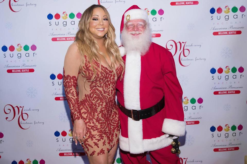 <p>Make her wish come true: Mariah Carey has never sat top of the UK charts on December 25</p> (Mat Hayward/Getty Images)
