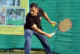 Different sport, same old class: MS Dhoni switches to tennis, wins in style