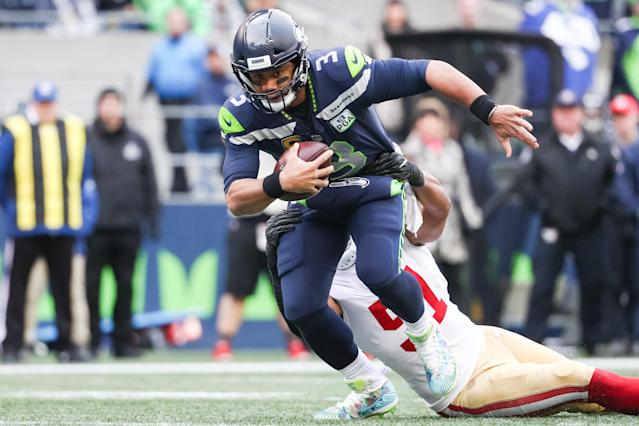 Russell Wilson has the Seahawks in the wild-card hunt. (Getty Images)