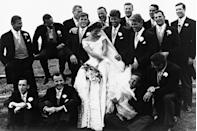 <p>JFK's best man was his brother Robert and his ushers included his brother Teddy, brother-in-law Sargent Shriver, cousin Joe Gargan, brother-in-law Michael Canfield, Lem Billings, Red Fay, and Torbert Macdonald, George Smathers, and Charles BartleThe ceremony was performed by Archbishop Cushing, a friend of the Kennedy family, and he was assisted by four other priests, including the former president of Notre Dame and the head of the Christopher Society. Before the mass, a special blessing from Pope Pius XII was read. </p>