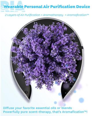 Air purification + Aromatherapy = Aromafication™. With RIA you gain complete control of your personal air quality AND your scent-experience. Armed with 2-layers of air purification, RIA adds a second layer of protection to your mask by piping clean air directly to your nose and mouth. Choose an essential oil to fit your mood and you'll instantly surround yourself with all the health and wellness benefits that come with clean-air plus aromatherapy. Your (clean) air. Your scent. That's all RIA!