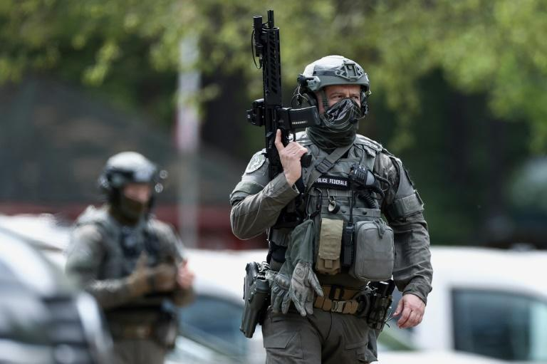 The missing soldier is thought to have escaped into the Hoge Kempen national park near in Maasmechelen, Northern Belgium