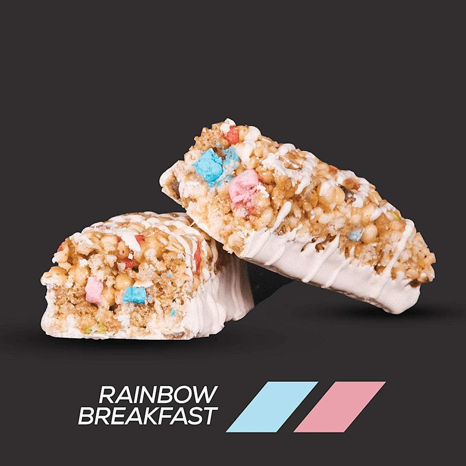 "<p>So these <a href=""https://www.popsugar.com/buy/Breakfast%20At%20The%20Ready%20Cereal%20Bars-474120?p_name=Breakfast%20At%20The%20Ready%20Cereal%20Bars&retailer=amazon.com&pid=474120&price=30&evar1=fit%3Auk&evar9=46441226&evar98=https%3A%2F%2Fwww.popsugar.com%2Ffitness%2Fphoto-gallery%2F46441226%2Fimage%2F46441614%2FBreakfast-Ready-Cereal-Bars&list1=shopping%2Camazon%2Csugar%2Chealthy%20snacks%2Csnacks&prop13=api&pdata=1"" rel=""nofollow"" data-shoppable-link=""1"" target=""_blank"" class=""ga-track"" data-ga-category=""Related"" data-ga-label=""https://www.amazon.com/dp/B07NY3HG33/ref=sspa_dk_detail_0?pd_rd_i=B07NY3HG33&amp;pd_rd_w=lvcSW&amp;pf_rd_p=8a8f3917-7900-4ce8-ad90-adf0d53c0985&amp;pd_rd_wg=zXXE7&amp;pf_rd_r=GH1XDPQVJKJCKJR9T74W&amp;pd_rd_r=2bd89ac0-c9a5-4e24-8283-ec05be3e66d6&amp;spLa=ZW5jcnlwdGVkUXVhbGlmaWVyPUEySlBPV0hWSjlSREcmZW5jcnlwdGVkSWQ9QTA4NDIxNDkzNzkyM0dBMVQxMTdBJmVuY3J5cHRlZEFkSWQ9QTA5NTI4NjMxSjRUVU5XWkFXNjYzJndpZGdldE5hbWU9c3BfZGV0YWlsJmFjdGlvbj1jbGlja1JlZGlyZWN0JmRvTm90TG9nQ2xpY2s9dHJ1ZQ&amp;th=1"" data-ga-action=""In-Line Links"">Breakfast At The Ready Cereal Bars</a> ($30) look like Lucky Charms in a bar. They're sweet, but surprisingly only have five grams of sugar.</p>"