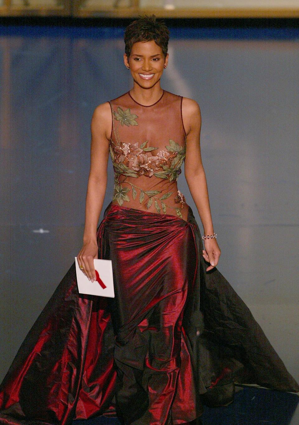 Halle Berry in 2002 wearing an Elie Saab gownAFP/Getty