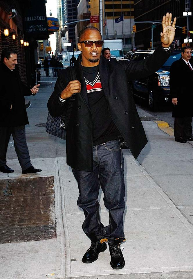 "<i>Life & Style</i> magazine breathlessly reported that Jamie Foxx is a ""strong contender"" to replace Simon Cowell at the judges' table on ""American Idol."" And while it's true he won a Grammy and portrayed musicians in both ""Ray"" and ""The Soloist,"" <a href=""http://www.gossipcop.com/idol-chatter-has-jamie-foxx-taking-over-for-simon-cowell/"" target=""new"">Gossip Cop</a> has learned it's likely Foxx will step in for Cowell in a week from … never. Jeffrey Ufberg/<a href=""http://www.wireimage.com"" target=""new"">WireImage.com</a> - February 4, 2010"
