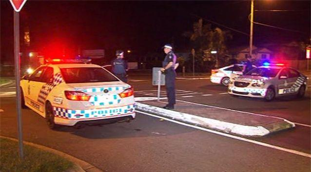 Police blocked off the street as the investigation was launched. Source: 7 News