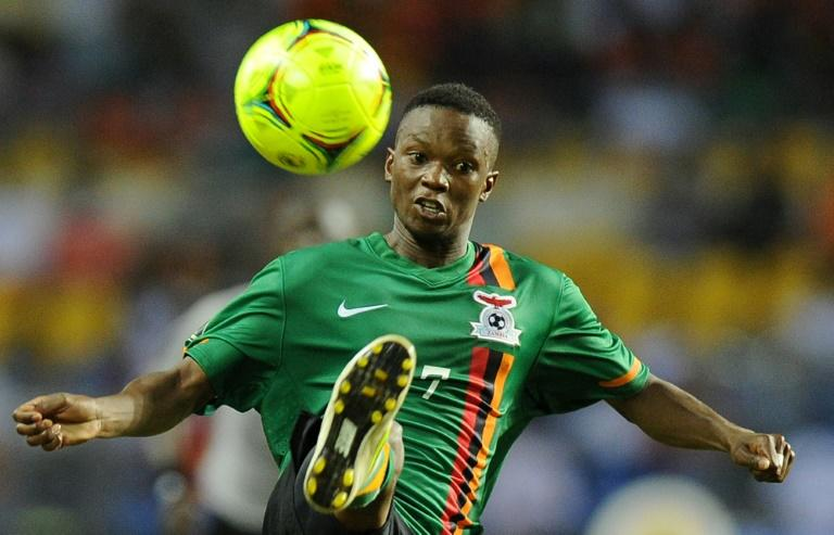 Rainford Kalaba, pictured in 2012, helped TP Mazembe of the Democratic Republic of Congo win the CAF Confederation Cup for the first time