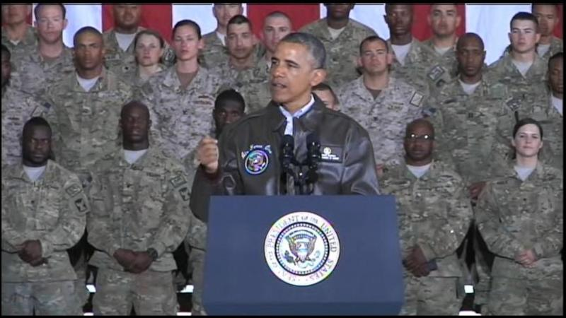 Commander-in-chief vows to get veterans the care they deserve, urges hiring of vets.