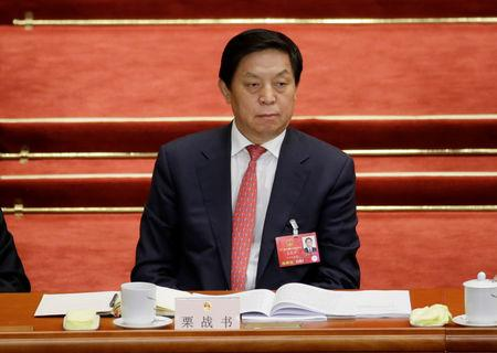 Li Zhanshu, Director of the General Office of the Communist Party of China Central Committee, attends the opening session of the NPC in Beijing