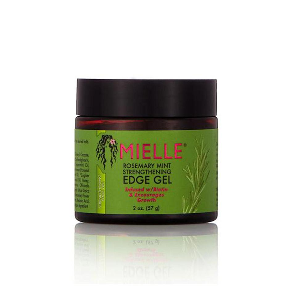 """<p>Mielle Organics simply does not miss with its hair products, and the Rosemary Mint Strengthening Edge Gel is no exception. On top of the lasting hold this gel provides, it's packed with biotin and hydrating oils (coconut, babassu seed, and olive) to keep your hairline nourished. </p> <p><strong>$7</strong> (<a href=""""https://www.sallybeauty.com/hair/hair-care/hair-styling-products/gels-and-glazes/rosemary-mint-strengthening-edge-gel/SBS-001493.html"""" rel=""""nofollow noopener"""" target=""""_blank"""" data-ylk=""""slk:Shop Now"""" class=""""link rapid-noclick-resp"""">Shop Now</a>)</p>"""
