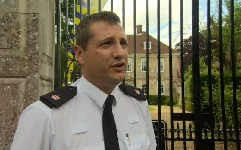 Supt Sean Memory making his appeal for victims outside Heath's home