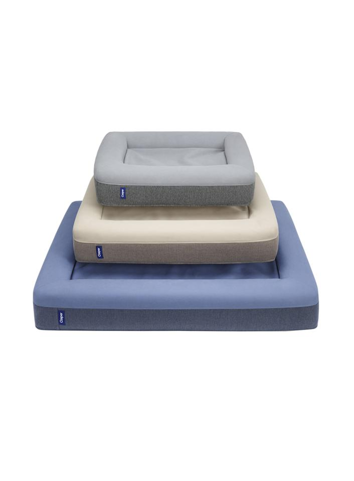 """<p>From a memory-foam mattress maker (for humans) comes a cozy canine bed that's cushier and more durable than other versions we've seen. The microfiber cover is machine-washable.<br /> <br /> <strong>To buy:</strong> Dog mattress, from $125; <a rel=""""nofollow"""" href=""""https://casper.com/dog-beds"""">casper.com</a>.</p>"""