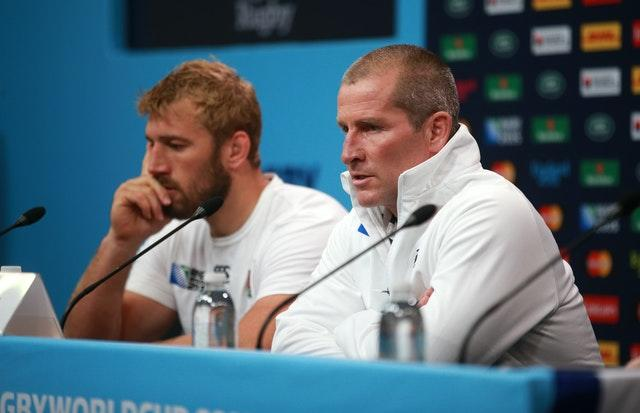 England captain Chris Robshaw, left, and head coach Stuart Lancaster faced tough questions following a disappointing home World Cup