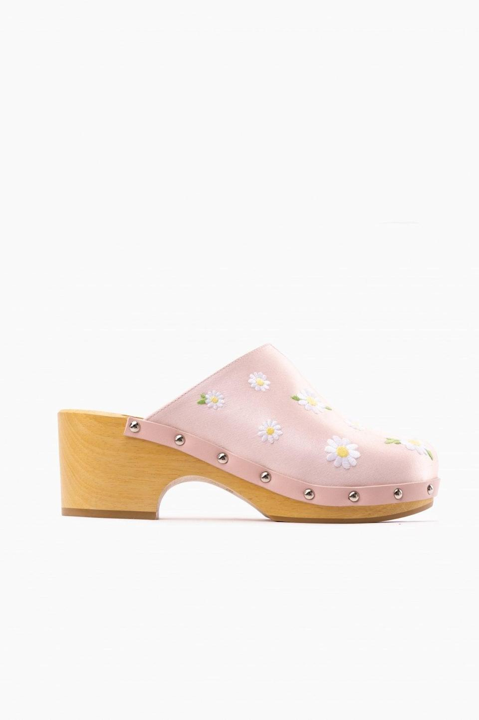 <p><span>Daily Sleeper Matilda Embroidered Clogs</span> ($290)</p>