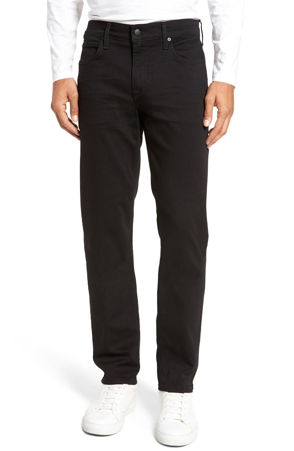 """<p><strong>Joe's</strong></p><p>nordstrom.com</p><p><strong>$119.26</strong></p><p><a href=""""https://go.redirectingat.com?id=74968X1596630&url=https%3A%2F%2Fwww.nordstrom.com%2Fs%2Fjoes-brixton-slim-straight-leg-jeans-griffith%2F4794234&sref=https%3A%2F%2Fwww.esquire.com%2Fstyle%2Fg36535194%2Fnordstrom-mens-sale-half-yearly-spring-2021%2F"""" rel=""""nofollow noopener"""" target=""""_blank"""" data-ylk=""""slk:Shop Now"""" class=""""link rapid-noclick-resp"""">Shop Now</a></p><p>Slim, but not too skinny, and blessedly <em>un</em>distressed, these jeans are built for the long haul.</p>"""