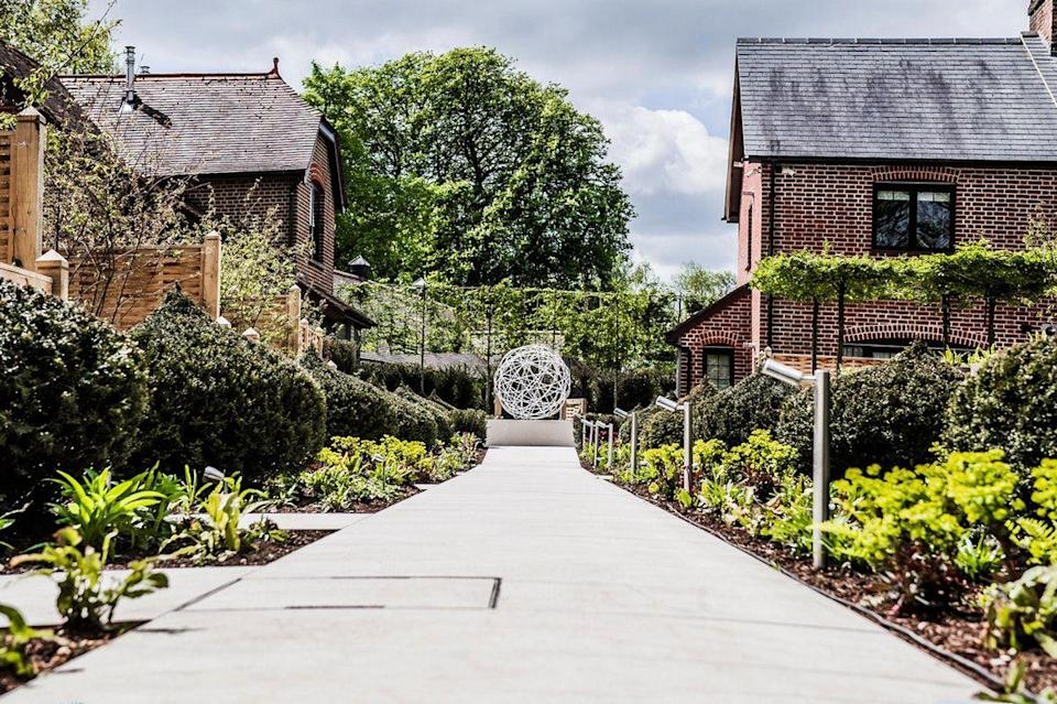 """<p>A stunning Georgian manor house in St. Albans' lush countryside, Sopwell House makes for the perfect weekend break from London. With two restaurants, an elegant cocktail lounge and conservatory bar, all of which look out on 12 acres of beautiful gardens, you have plenty of spaces to soak up the views.</p><p>Cottonmill, its spa, has its own garden featuring private hot tubs and a fire pit, along with a panoramic sauna, salt and botanical steam rooms and dining. </p><p><a class=""""link rapid-noclick-resp"""" href=""""https://www.booking.com/hotel/gb/sopwell-house.en-gb.html?aid=2070929&label=weekend-trips-from-london"""" rel=""""nofollow noopener"""" target=""""_blank"""" data-ylk=""""slk:CHECK AVAILABILITY"""">CHECK AVAILABILITY</a></p>"""