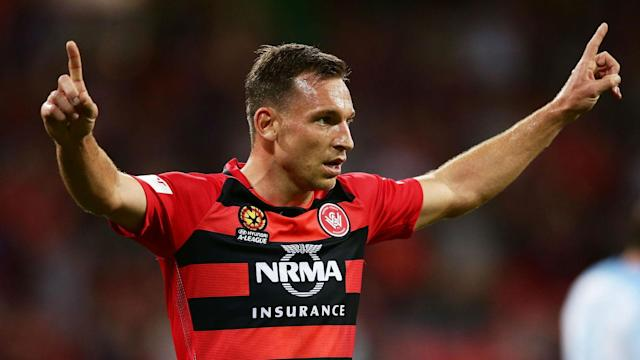 Western Sydney Wanderers were behind early against Melbourne City but Brendon Santalab's hat-trick secured back-to-back A-League wins.