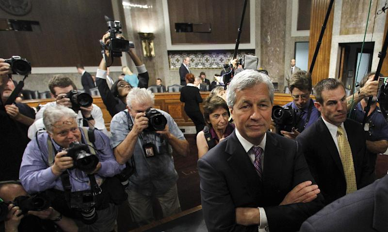 JPMorgan Chase CEO Jamie Dimon, head of the largest bank in the U.S., arrives to testify on Capitol Hill in Washington, Wednesday, June 13, 2012, before the Senate Banking Committee, about how his company recently lost more than $2 billion on risky trades and whether its executives failed to properly manage those risks. (AP Photo/Haraz N. Ghanbari)