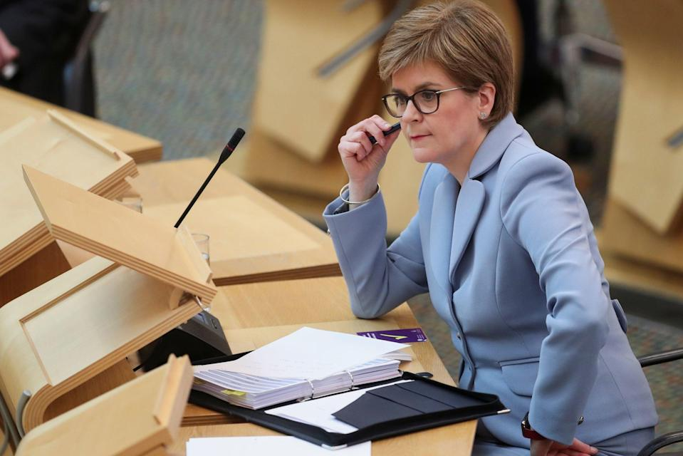 First Minister Nicola Sturgeon said parts of Scotland, including Glasgow, could move from Level 2 to Level 1 (PA)