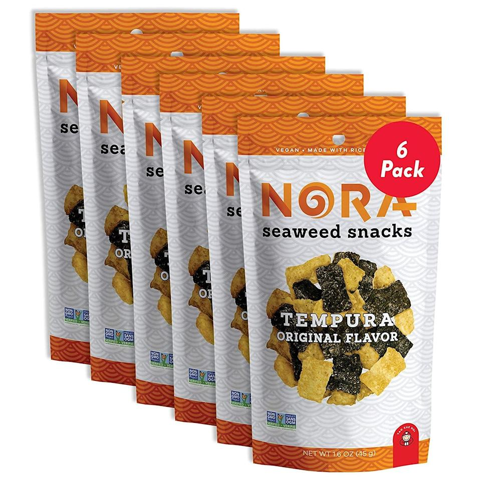 <p>You'll keep coming back for more of these light, crispy and flavorful <span>Tempura Original Crispy Seaweed Snacks</span> ($25).</p>