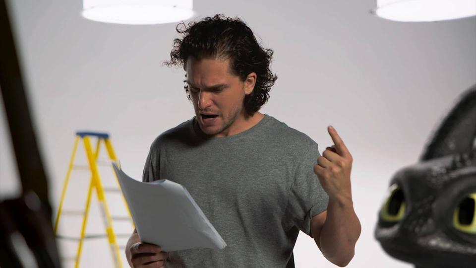 Kit Harrington auditions with Toothless
