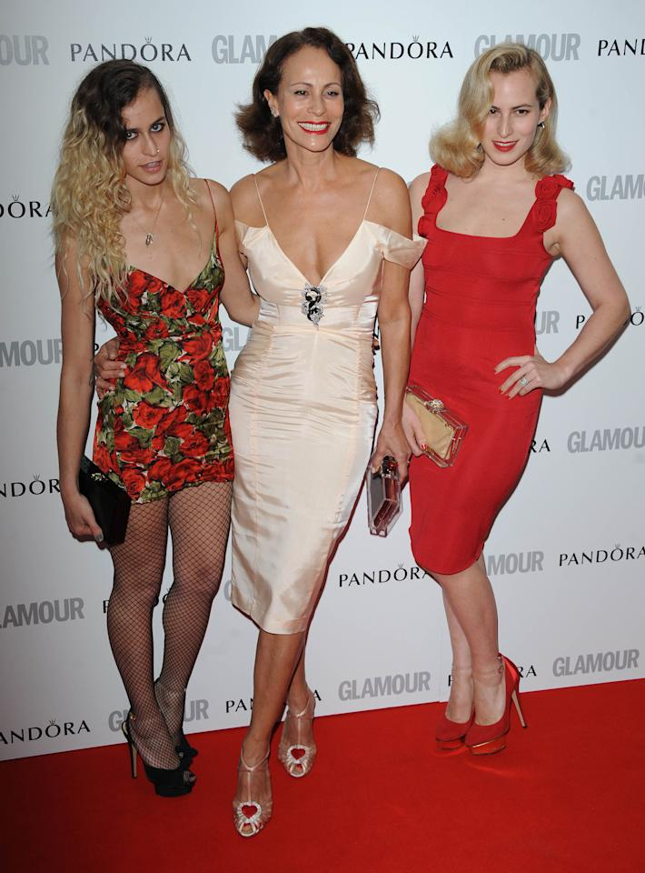 LONDON, UNITED KINGDOM - MAY 29: Alice Dellal, Andrea Dellal and Charlotte Dellal attend Glamour Women of the Year Awards 2012 at Berkeley Square Gardens on May 29, 2012 in London, England. (Photo by Stuart Wilson/Getty Images)