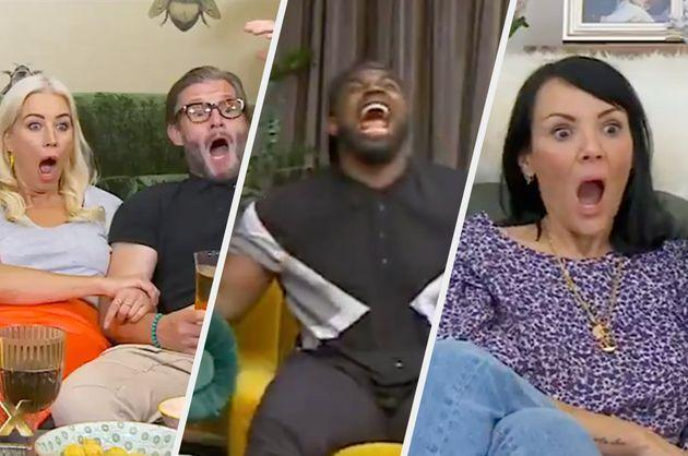 The Celebrity Goggleboxers watched *that* Sex/Life scene (Photo: Channel 4)