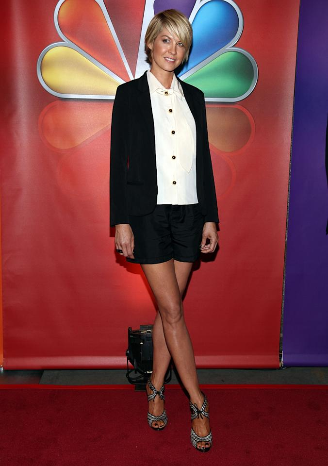 "Jenna Elfman (""1600 Penn"") attends NBC's 2012 Upfront Presentation at 51st Street on May 14, 2012 in New York City."