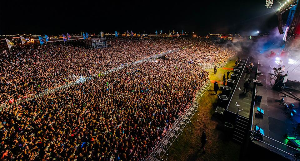 Tens of thousands of revellers packed into the festival this year after the event's cancellation in 2020. Source: Facebook/ Boardmasters