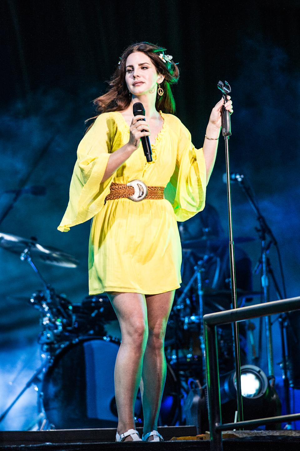 Lana Del Rey performs at 2016 Outside Lands Music Festival at Golden Gate Park on Sunday, Aug. 7, 2016, in San Francisco, Calif. (Photo by Amy Harris/Invision/AP)