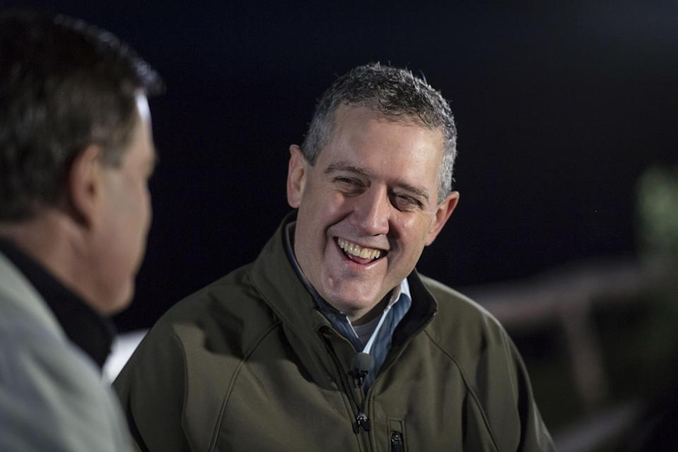 James Bullard, president and chief executive officer of Federal Reserve Bank of St. Louis, smiles during a Bloomberg Television interview at the Jackson Hole economic symposium, sponsored by the Federal Reserve Bank of Kansas City, in Moran, Wyoming, U.S., on Friday, Aug. 24, 2018. Bullard, an outlier in his view that the U.S. central bank shouldn't be raising interest rates, said the Fed should heed the signals from the bond market and dial down the urgency to be preemptive against fighting inflation. Photographer: David Paul Morris/Bloomberg via Getty Images