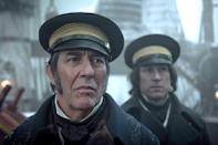"<p>AMC has gotten in on the horror anthology trend with <strong>The Terror</strong>, a series that combines history and horror. Season one imagines what happened to the crew of a ship that vanished in the Artic in the mid-1800s, and one can only hope the real mariners didn't face the trauma of what happens in the show. Season two is set during WWII and sheds light on the Japanese tale of the ""bakemono.""</p> <p><strong>Scare factor:</strong> 😱 😱 😱</p>"