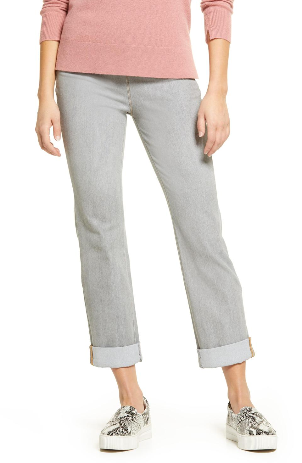 """<p><strong>LYSSE</strong></p><p>nordstrom.com</p><p><strong>$98.00</strong></p><p><a href=""""https://go.redirectingat.com?id=74968X1596630&url=https%3A%2F%2Fwww.nordstrom.com%2Fs%2Flysse-boyfriend-denim-leggings%2F4595876&sref=https%3A%2F%2Fwww.womenshealthmag.com%2Flife%2Fg37080961%2Fbest-boyfriend-jeans%2F"""" rel=""""nofollow noopener"""" target=""""_blank"""" data-ylk=""""slk:Shop Now"""" class=""""link rapid-noclick-resp"""">Shop Now</a></p><p>If you're trying to wear jeans that don't actually feel like jeans, you'll want a pair of these in each of the three washes it's available in. They have the feel of leggings, feature a control compression waist for support, and have a straight, elegant shape. Nobody will know (or believe!) how comfortable you actually are. </p>"""