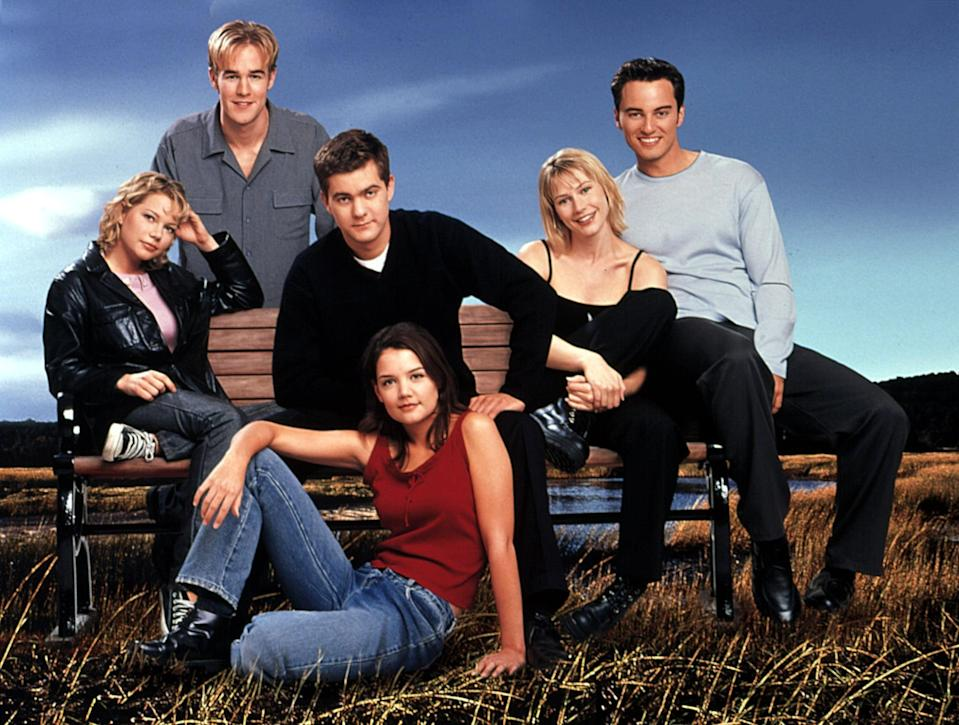 """<p>Netflix is taking us back to Capeside! It's been over 20 years since Van Der Beek (Dawson Leery), <a class=""""link rapid-noclick-resp"""" href=""""https://www.popsugar.co.uk/Katie-Holmes"""" rel=""""nofollow noopener"""" target=""""_blank"""" data-ylk=""""slk:Katie Holmes"""">Katie Holmes</a> (Joey Potter), <a class=""""link rapid-noclick-resp"""" href=""""https://www.popsugar.co.uk/Joshua-Jackson"""" rel=""""nofollow noopener"""" target=""""_blank"""" data-ylk=""""slk:Joshua Jackson"""">Joshua Jackson</a> (Pacey Witter), and <a class=""""link rapid-noclick-resp"""" href=""""https://www.popsugar.co.uk/Michelle-Williams"""" rel=""""nofollow noopener"""" target=""""_blank"""" data-ylk=""""slk:Michelle Williams"""">Michelle Williams</a> (Jen Lindley) first graced the TV screen together, but fans will forever treasure the torrid romances, musical moments, heartbreak, and """"Creek-speak"""" that the series gave us for six seasons. Blast back into the past and watch it now!</p> <p><a href=""""https://www.netflix.com/search?q=Dawson%27s%20Creek&amp;jbv=70157460"""" class=""""link rapid-noclick-resp"""" rel=""""nofollow noopener"""" target=""""_blank"""" data-ylk=""""slk:Watch Dawson's Creek on Netflix now"""">Watch <strong>Dawson's Creek</strong> on Netflix now</a>.</p>"""