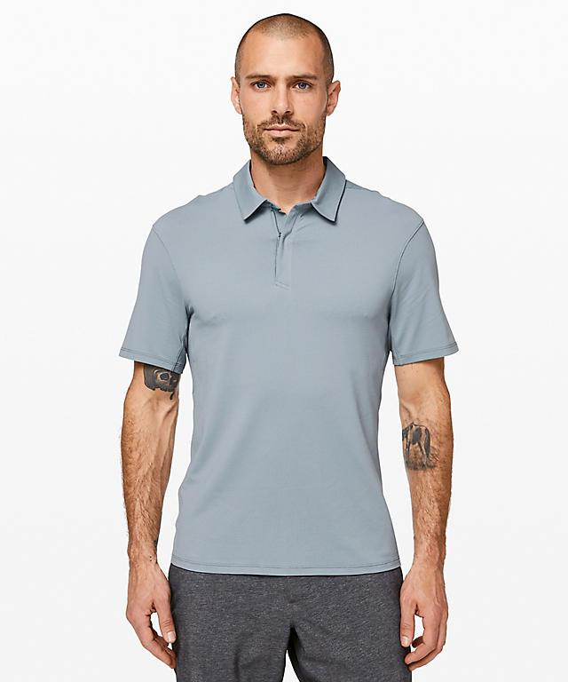Drysense Polo. Available in two colours. Image via Lululemon.